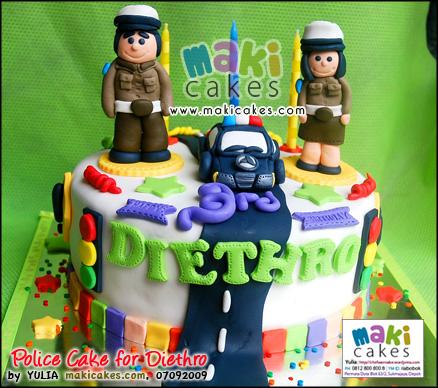 Policeman Cake for Diethro__ - Maki Cakes