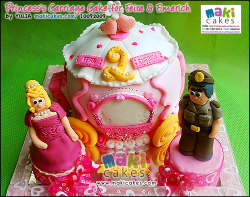 Princess Carriage Cake for Feira & Emerich - Maki Cakes