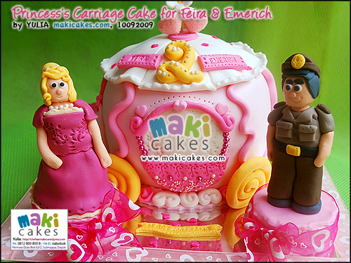 Princess Carriage Cake for Feira & Emerich_ - Maki Cakes