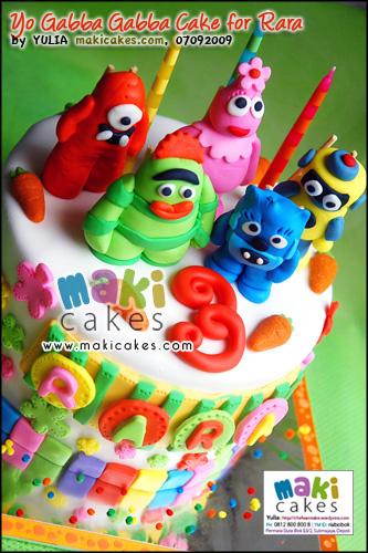 Yo Gabba Gabba Cake for Rara - Maki Cakes