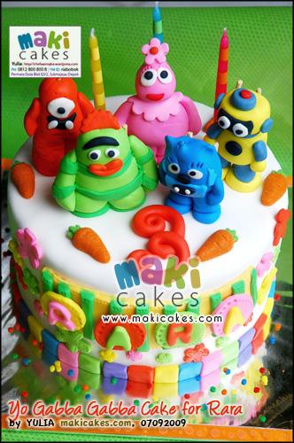 Yo Gabba Gabba Cake for Rara_ - Maki Cakes