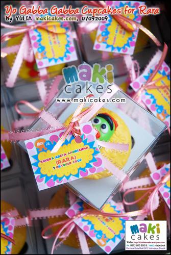 Yo Gabba Gabba Cupcakes for Rara - Maki Cakes