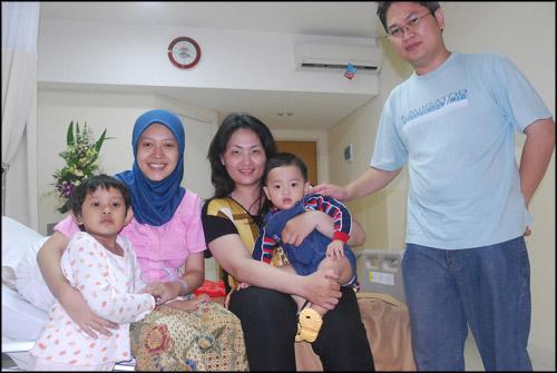 with Olanos family