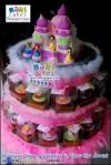 Princess Disney Cupcakes & Castle Cake in Tiers for Arruni