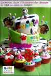 Dalmatian Tiered Cake & Cupcakes for Ananda - Maki Cakes