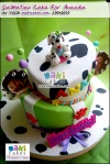 Dalmatian Tiered Cake & Cupcakes for Ananda_ - Maki Cakes