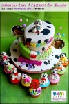 Dalmatian Tiered Cake & Cupcakes for Ananda__ - Maki Cakes