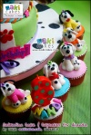 Dalmatian Tiered Cake & Cupcakes for Ananda___ - Maki Cakes