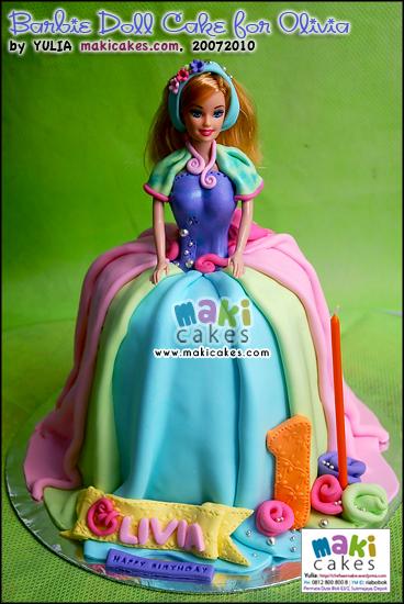 Barbie Doll Cake For Olivia Mama Kintan Kinar Bagas Belajar Masak