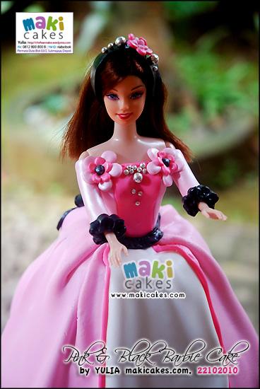 Pink Black Barbie Doll Cake Mama Kintan Kinar Bagas Belajar Masak