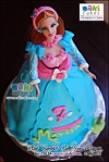 Blue Barbie Doll Cake for Mayra - Maki Cakes