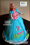 Blue Barbie Doll Cake for Mayra_ - Maki Cakes