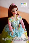 Pastel Colors Barbie Doll Cake for Olivia - Maki Cakes
