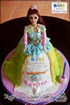 Pastel Colors Barbie Doll Cake for Olivia_ - Maki Cakes