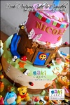 Pooh Autumn Cake & Cupcakes for Nicole_ - Maki Cakes