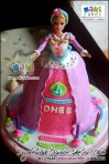 Purple Pink Barbie Doll Cake for Dhee_ - Maki Cakes